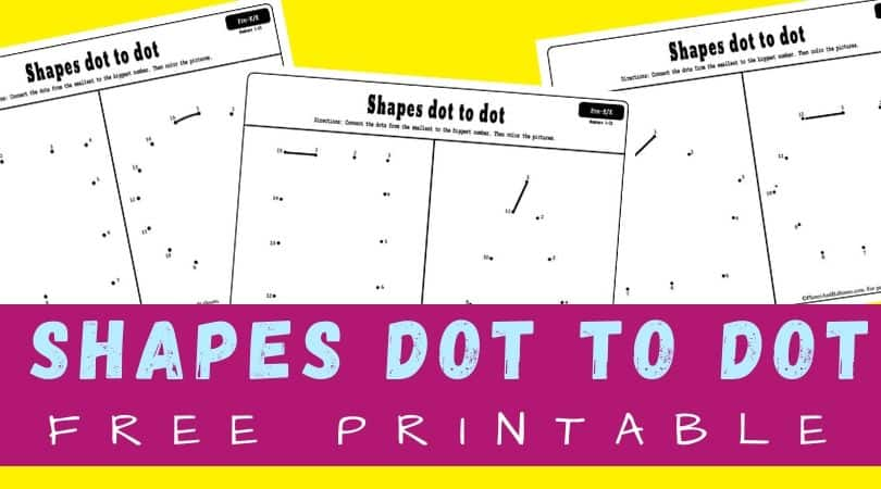 Dot to dot shapes free printable worksheets for preschool