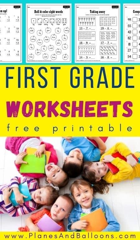 Free printable worksheets for 1st grade pdf
