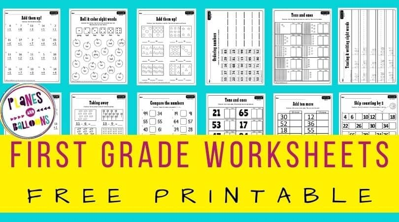 First grade worksheets pdf to download for free