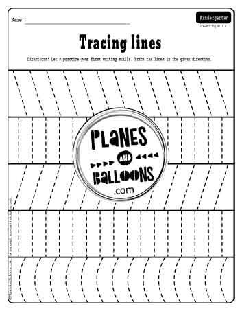 First week of kindergarten worksheets - tracing vertical lines