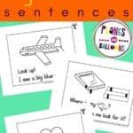 Sight words sentences worksheets for preschool kids - worksheets on a green background