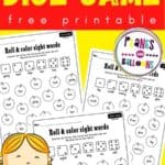 Sight words game for grade 1 worksheets