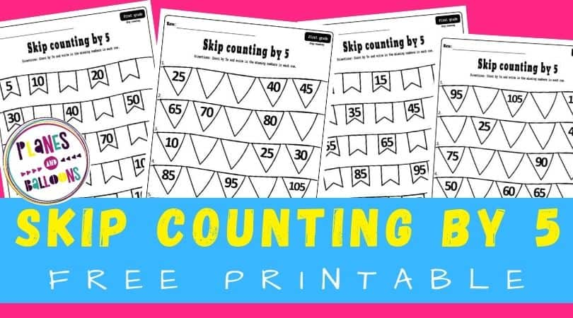 Skip counting by 5 worksheets