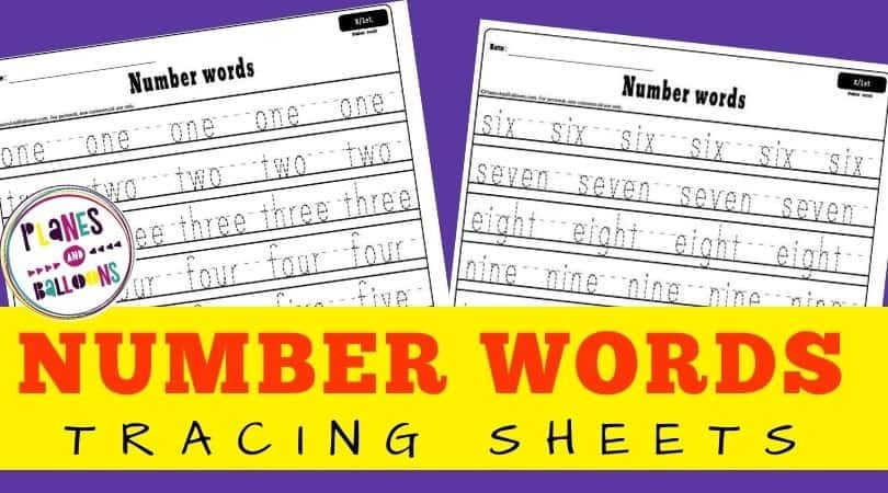 tracing number words 1-10