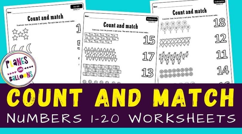 Count and match 1-20