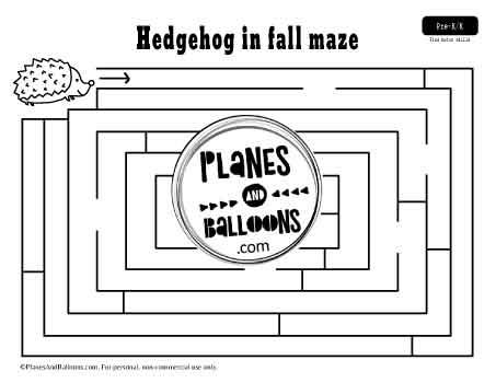 fall maze with hedgehog