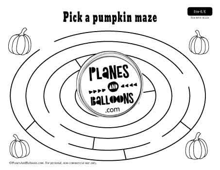 fall maze with pumpkins