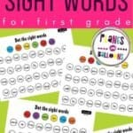 Dolch sight words first grade worksheets