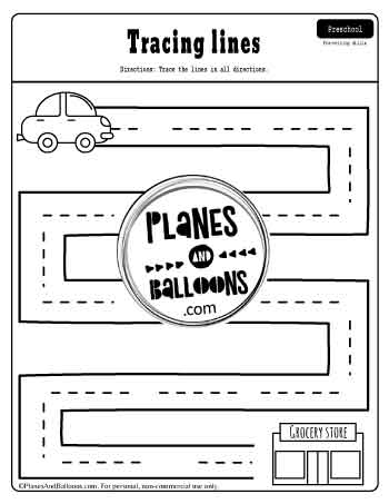 tracing straight lines worksheets pdf