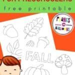 Fall prewriting activities for 3 year olds preschoolers