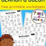 number search worksheets for preschool - numbers 1-10