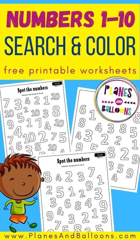 number search worksheets for preschool